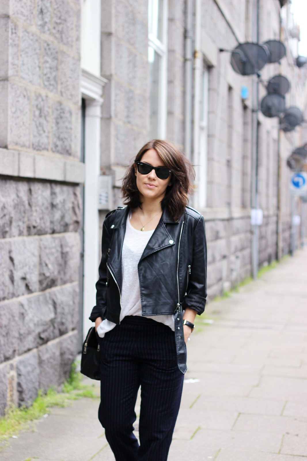Missguided cropped biker jacket 3