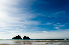 Holywell Bay, Cornwall by Thomas Tolkien