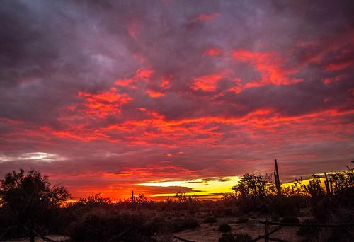sunset arizona unitedstates scottsdale phoenixscottsdale campfiredinner