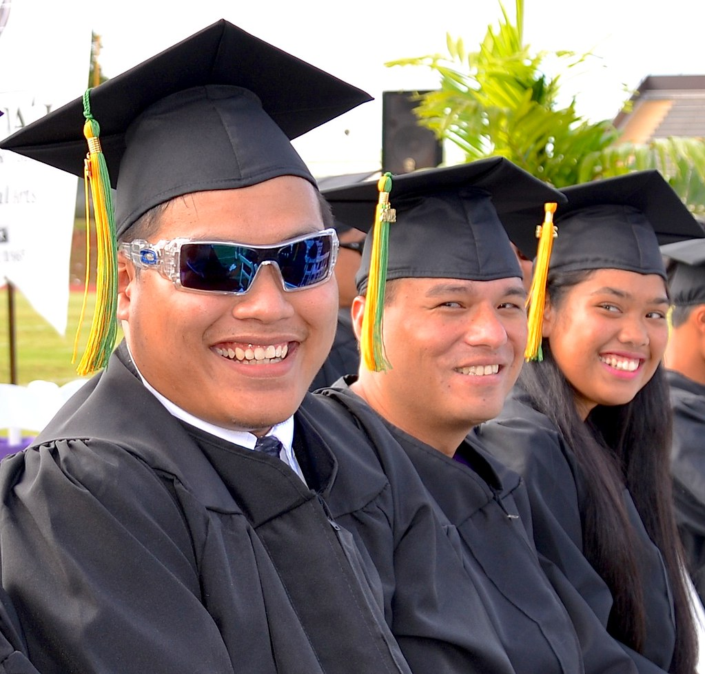"""<p>Kauai Community College graduates were honored at the campus' commencement ceremony at Vidinha Stadium on May 16, 2014.  For more photos go to <a href=""""https://sites.google.com/a/hawaii.edu/college-graduation-2014/home"""" rel=""""nofollow"""">sites.google.com/a/hawaii.edu/college-graduation-2014/home</a></p>"""