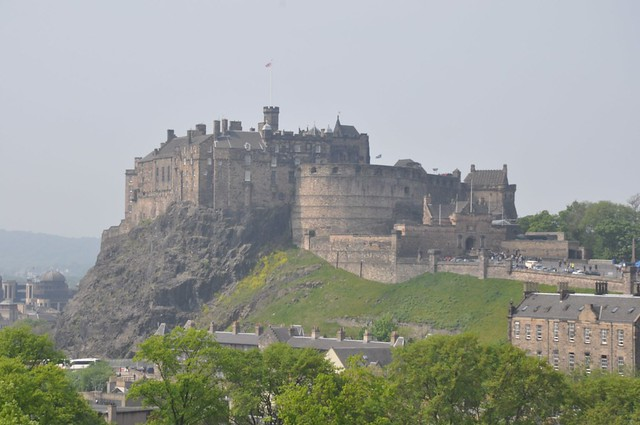 Edinburgh castle from National Museum of Scotland