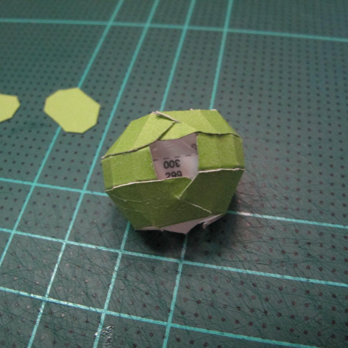วิธีทำโมเดลกระดาษคุกกี้รสคุกกี้แอนด์ครีม  (Cookie Run Cream Cookie Papercraft Model) 016