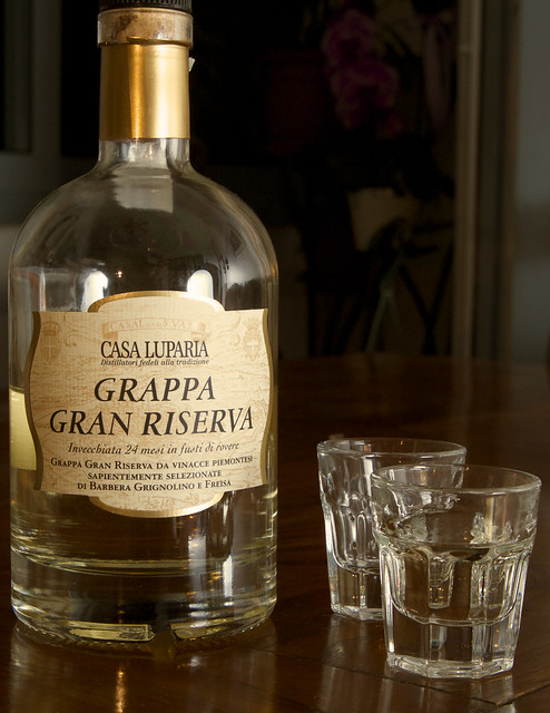 A very good Italian grappa morbida