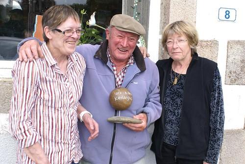 29/05/2014 - Kerlanguis (Kermouster en Plougasnou) : Les finalistes du concours de boules plombées en tête-à-tête