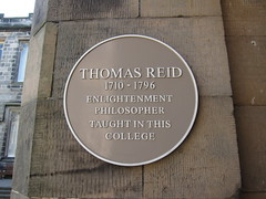 Photo of Thomas Reid yellow plaque