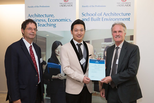 2013 Winner: Kaixiang Xue Presented by Mr Trevor Christensen (Deputy Director) and Prof George Zilante (Head of School)