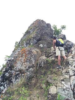 Steil ging es den dritten Berg hinauf.
