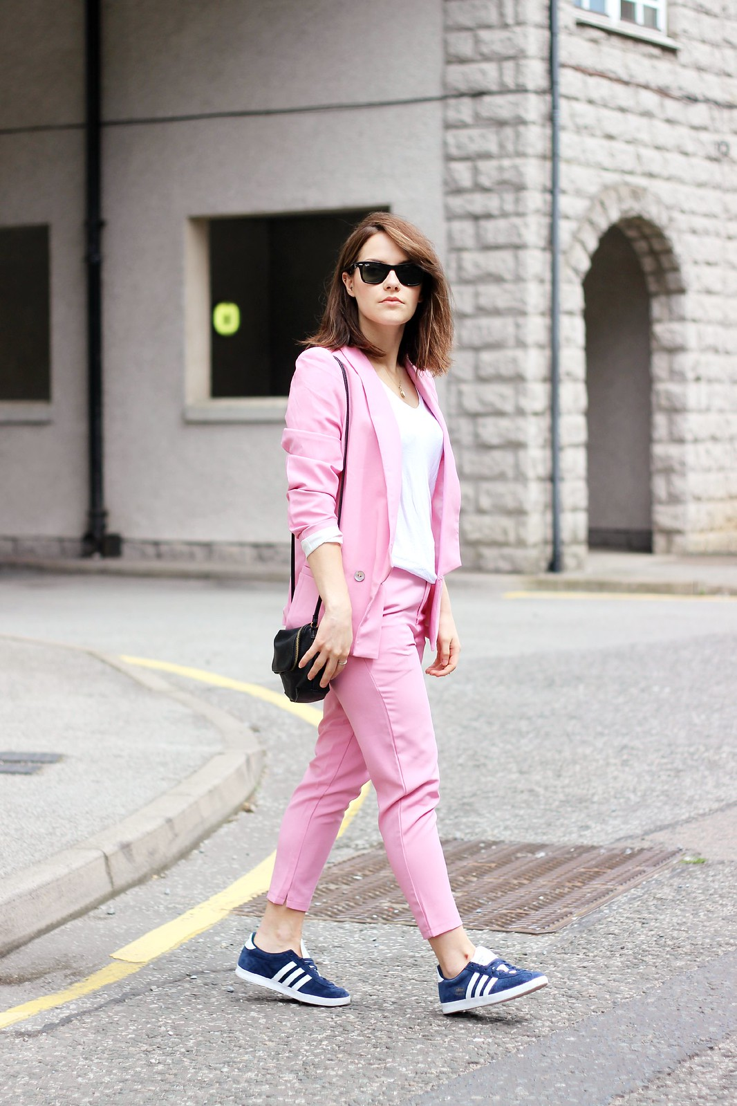 Choies pink trouser suit 2