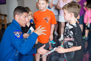 Astronaut Mike Hopkins Visit to Maryland Science Center (201406090008HQ)