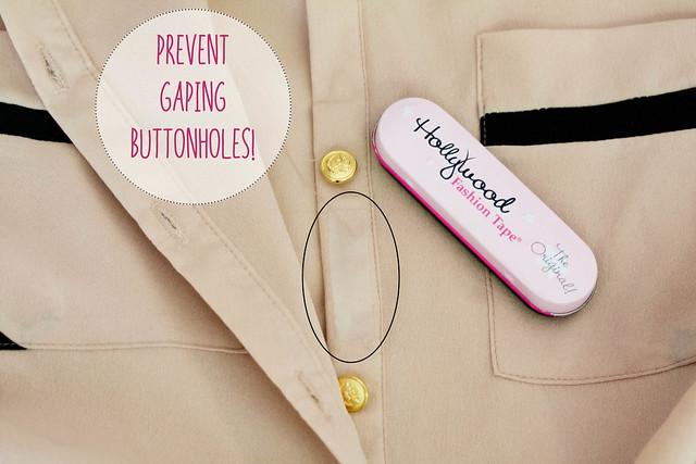 cute & little blog | petite fashion | tip to prevent gaping button holes