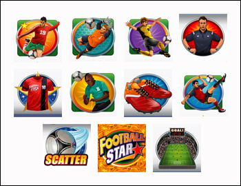 free Football Star slot game symbols