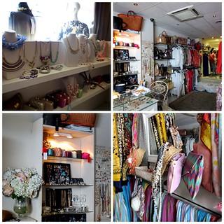 Collage de ropa y complementos de Garbo