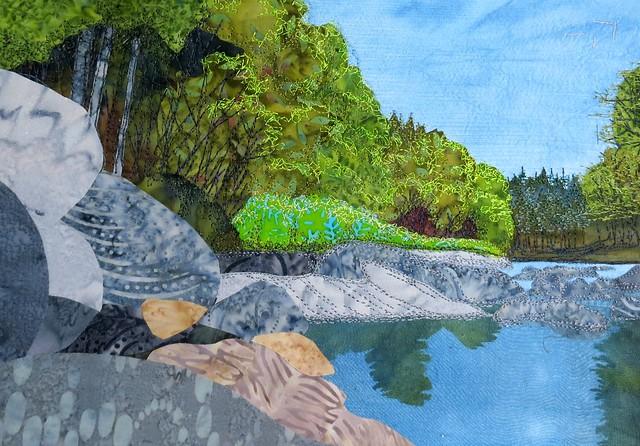 summer river rocks