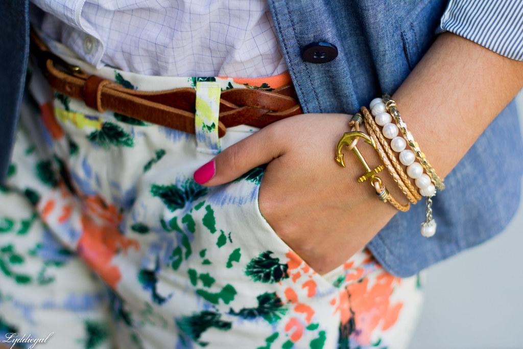 Floral shorts, chambray blazer, panama hat-10.jpg