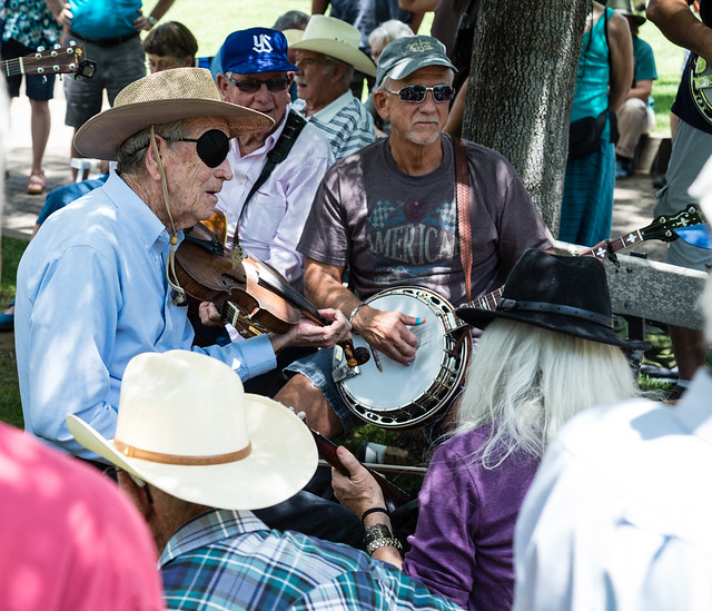 Pair of Musicians at the Prescott Bluegrass Festival 2014