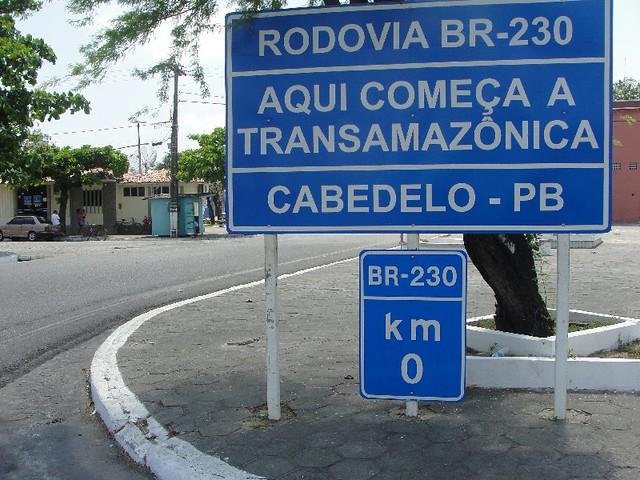 Marco Zero da Rodovia Transamazonica - Porto de Cabedelo