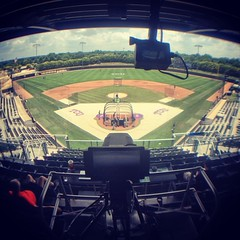 Back for more NCAA baseball today. Brought the @GoPro out with me, to take a time-lapse.