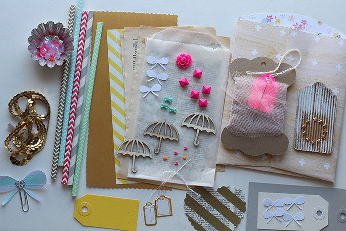 spring scrapbook embellishment kit