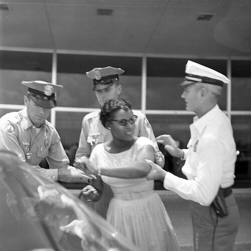 Civil rights activist Priscilla Stephens being arrested - Tallahassee