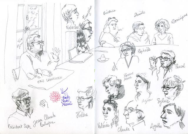Paris SGDL - Conférence Eric Lahirigoyen - Portrait des auteurs