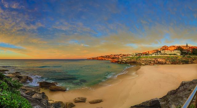 Tamarama Beach Sunrise Panorama