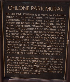 Ohlone Park Mural plaque text
