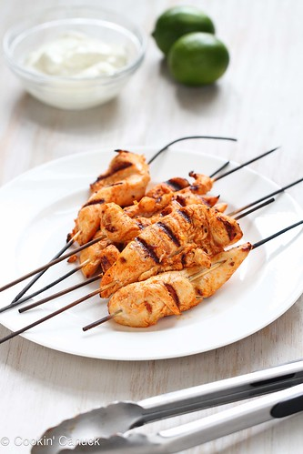 Grilled Chicken Tenders Recipe with Chipotle Lime Yogurt | cookincanuck.com