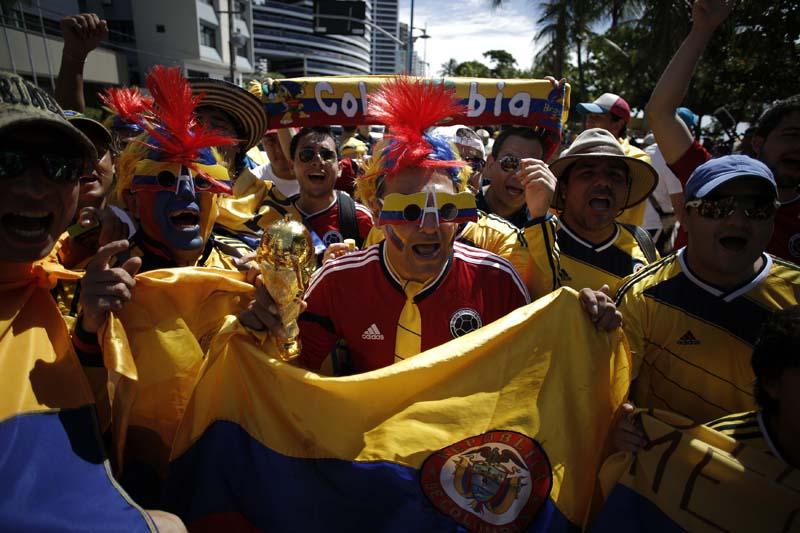 (11)BRASIL-FORTALEZA-COLOMBIA-MUNDIAL 2014-AFICIONADOS