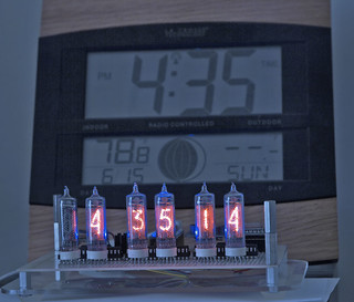 nixie clock, almost done