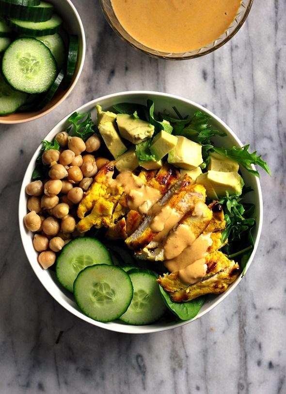 Satay Chicken Salad {Gluten Free Recipe} | www.fussfreecooking.com
