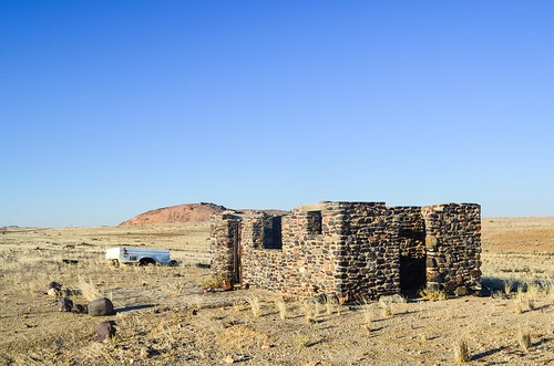 Old mining houses, Brandberg West, Namibia