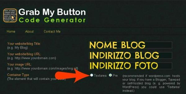 come creare un grab my button, banner collegato, tutorial, come creare un logo per I blog, blogger, wordpress, istruzioni passo passo