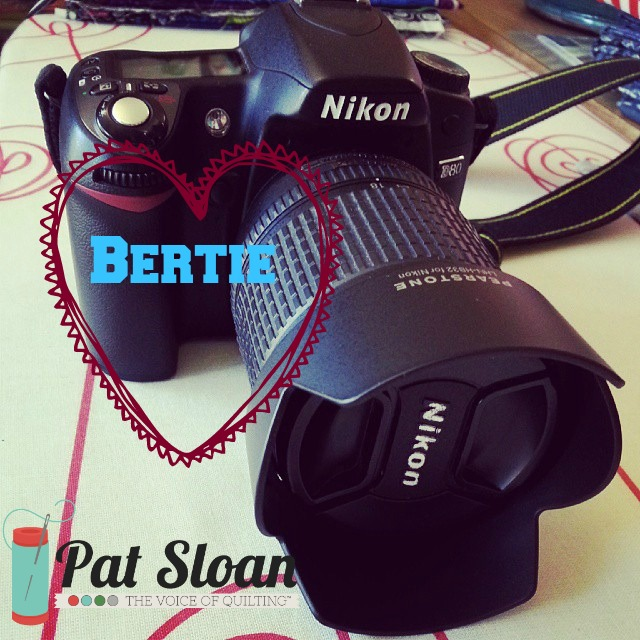 Pat sloan camera named bertie