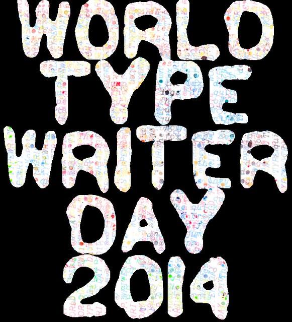 Typewriter Day 2014 word collage