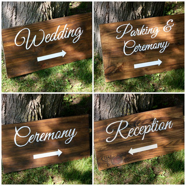 DIY Painted Wedding Direction Signs {Wedding Wednesday} - Life at ...