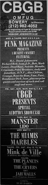 CBGB 5-4-77