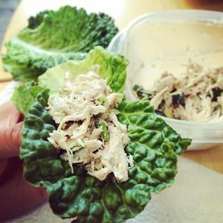 Cabbage Chicken Wraps