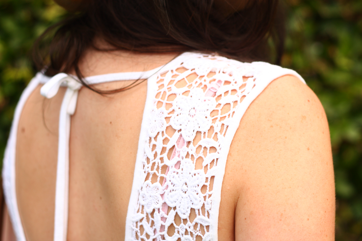 white crochet dress somedays lovin