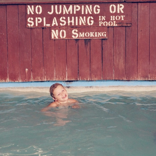 Lucy's first hot springs...she approves! #summer #vacation #idaho #heisehotsprings #fun #happy #hotsprings