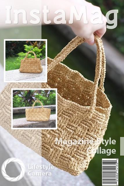 格紋編織包