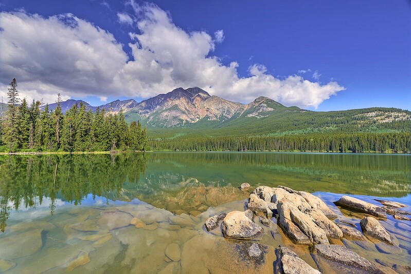 Reflections on Pyramid Lake - Jasper National Park