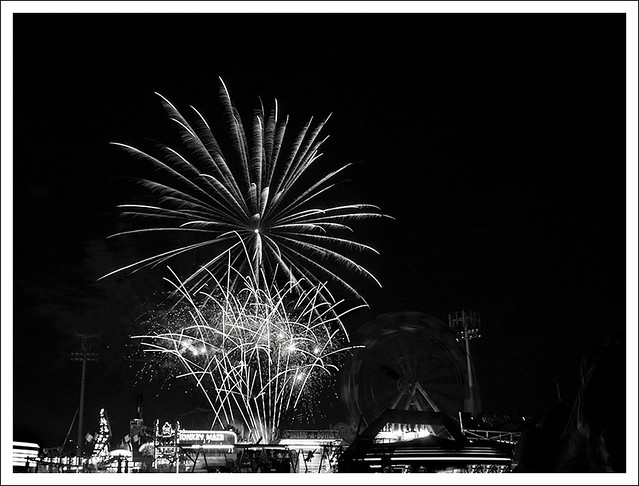 4th of July In Webster Groves 2014 12 BW