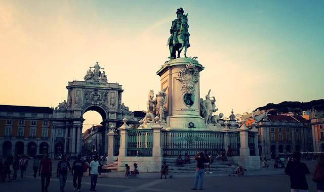 Lugar ótimo para ver o por do sol em Lisboa