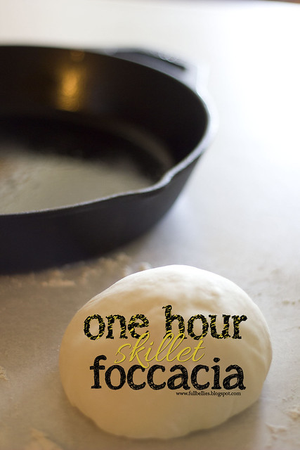 One hour skillet foccacia