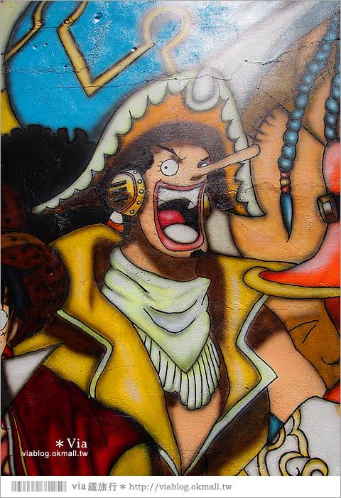 【台中海賊王彩繪】台中新遊點!小巷裡出現海賊王彩繪牆~ONE PIECE迷必訪!12