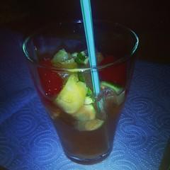 limeade(0.0), blue hawaii(0.0), negroni(0.0), caipirinha(0.0), caipiroska(1.0), non-alcoholic beverage(1.0), distilled beverage(1.0), liqueur(1.0), bloody mary(1.0), produce(1.0), food(1.0), punch(1.0), cocktail garnish(1.0), drink(1.0), cocktail(1.0), juice(1.0), mai tai(1.0), alcoholic beverage(1.0),