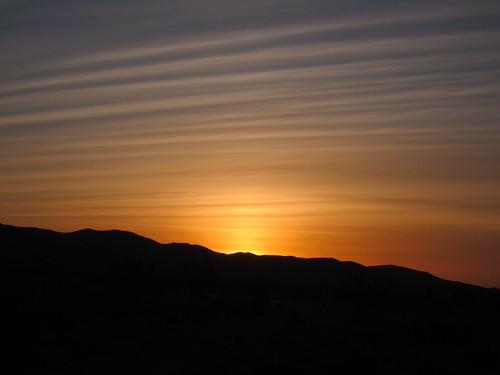 california sunset usa desert helendale