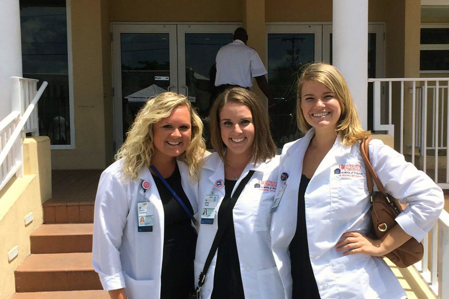 July 23, 2014 - UVA nursing students (Cierra Condrey, Bailey Ocker, Mary Howell) making a difference abroad in the Grand Bahama Islands as part of the Clinical Nurse Leader Program. Submitted by student Cierra Condrey.