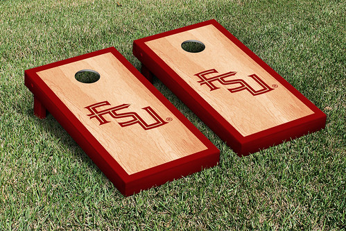 Florida State University FSU Seminoles Cornhole Game Set Hardcourt