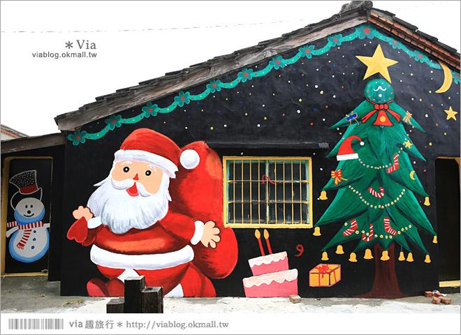 【新港童話村/青蛙彩繪村/北崙彩繪村】有聖誕老公公的繽紛彩繪村!超多主題好歡樂~45